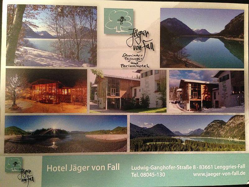 Jaeger von Fall Postkarte